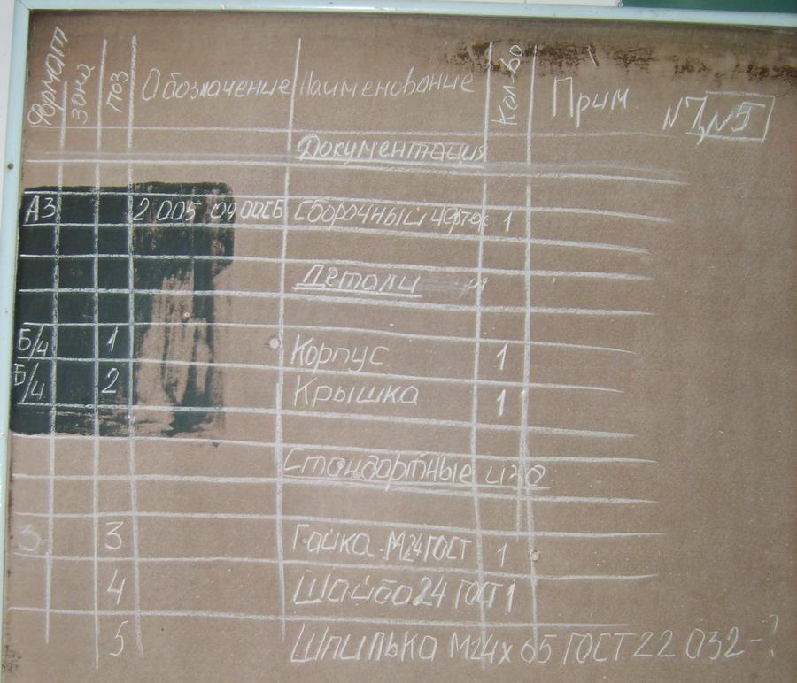 Таблица спецификации с доски 196 kb